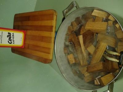 дубовые колышки обеззараживание содой и кипячением