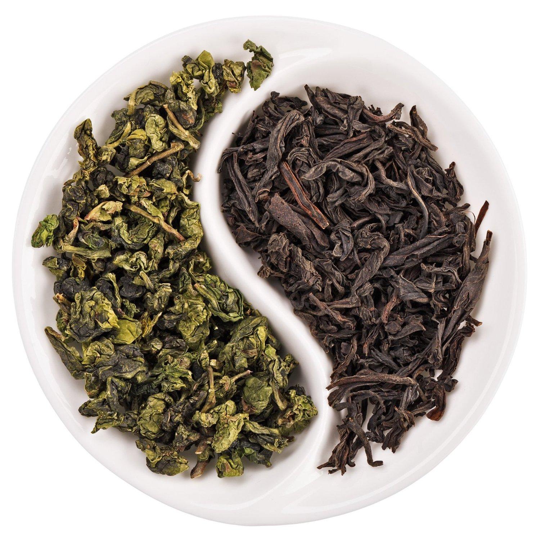 черный чай и зеленый