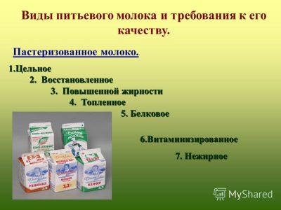 разновидность молока