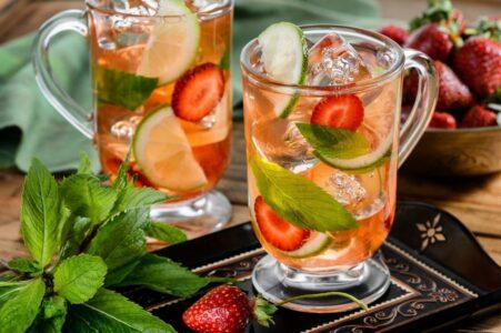 Холодный чай с водкой и фруктами!