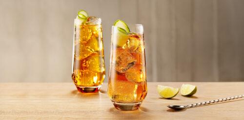 Освежающий напиток с Метаксой - Имбирное наслаждение.