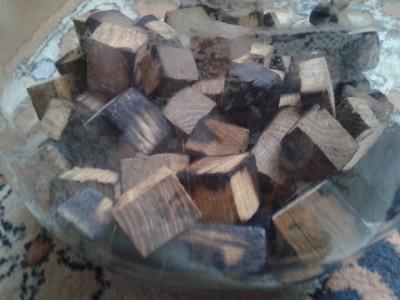 подготовленный дуб перед настаиванием виски