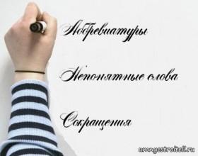 abbreviatury sokrascheniya