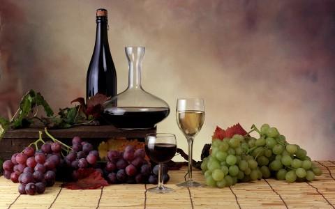 Ambientazione uva e vino