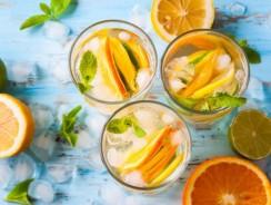 Безалкогольный коктейль из цитрусовых